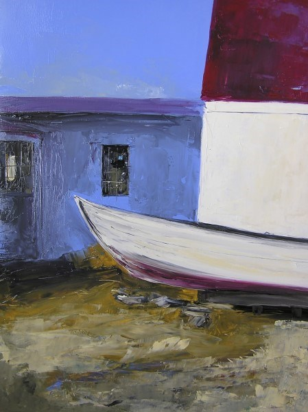 "Janis H. Sanders | Far Seas | Oil on Panel | 20"" X 16"" 