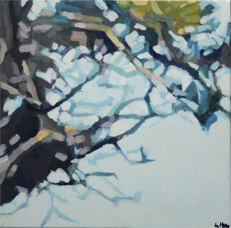 "Liz Hoag | Limbs V | acrylic | 12"" X 12"" 