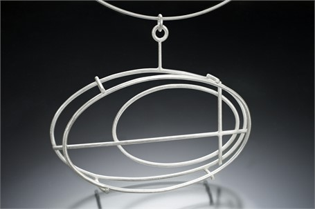 """Necklace: Large Oval Structure on a 16"""" Cable"""