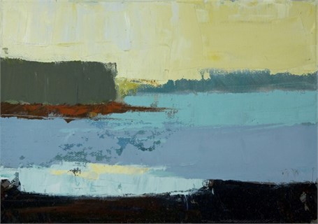 "Philip Frey | Neopolitan Landscape | Oil on Linen | 5"" X 7"" 