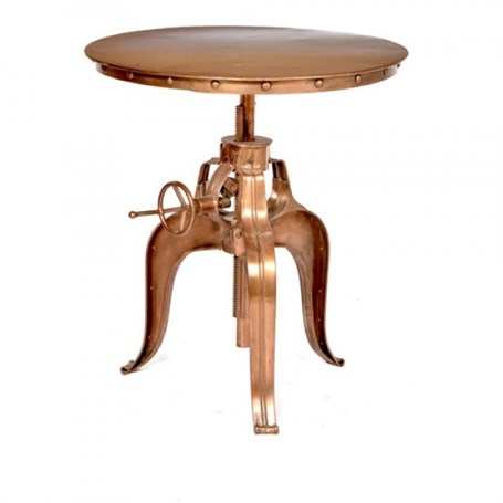 Table - Adjustable Copper Finish Patio Table