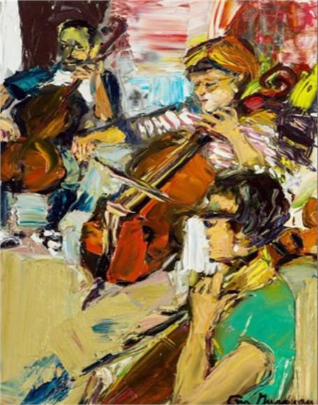 Deb playing Cello