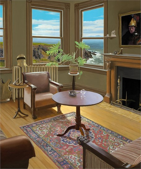 "Edward Gordon | The Collector | Alkyd on Panel | 18"" X 15"" 