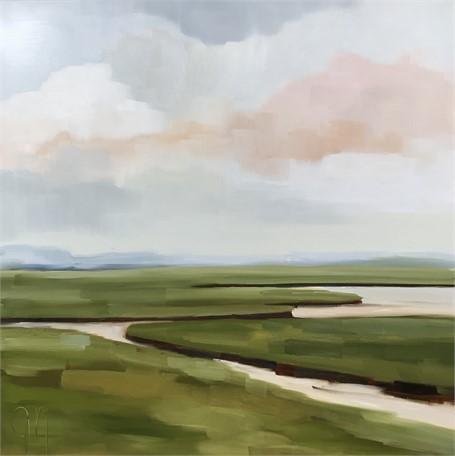"Jill Matthews | Spring Marsh Evening | Oil on Canvas | 36"" X 36"" | $2,950.00"