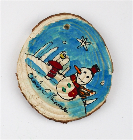 Snowman/City ornament