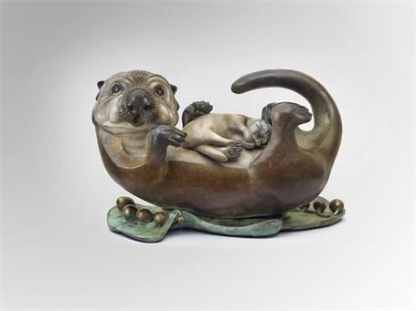 Sea Otter Mom & Pup - Large