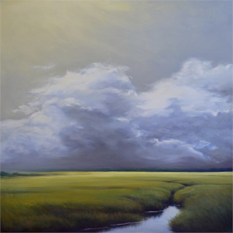 "Margaret Gerding | Low Clouds III | Oil on Panel | 36"" X 36"" 