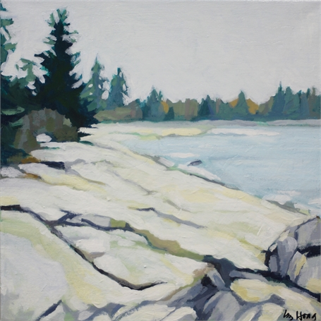 "Liz Hoag | Outcropping | Acrylic on Canvas | 12"" X 12"" 