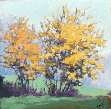 "Margaret Gerding | Autumn's Brush | Oil on Panel | 10"" X 10"" 