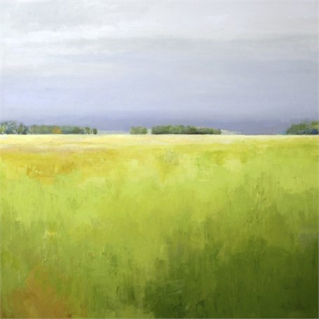 "Ellen Welch Granter | Brightness on the Horizon | Oil on Canvas | 40"" X 40"" 