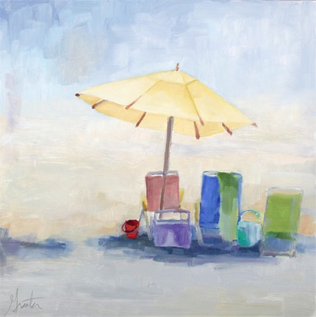 "Ellen Welch Granter | Beach Fog | Oil on Panel | 12"" X 12"" 