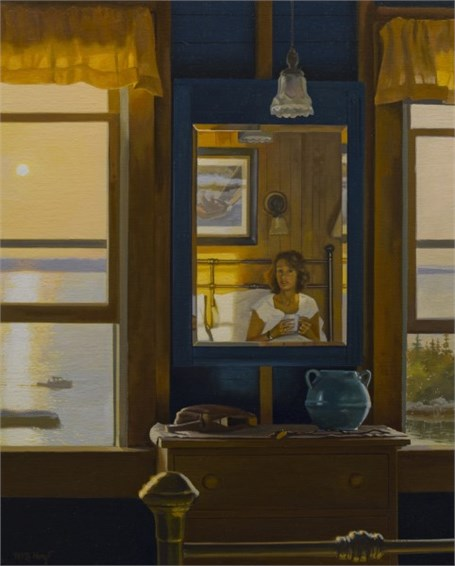 "William B. Hoyt | Morning at the Thread of Life | Oil | 20"" X 16"" 