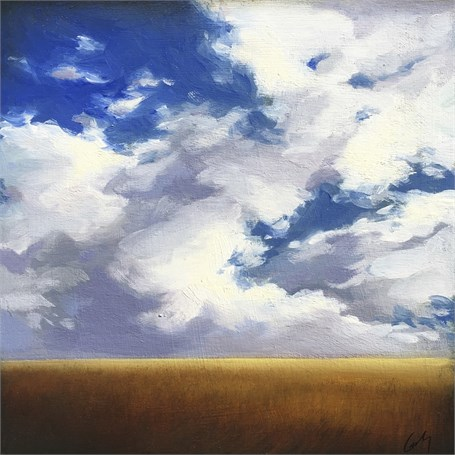"Margaret Gerding | Summer Clouds | Oil on Panel | 10"" X 10"" 