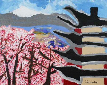 Springtime in the Cherry Blossoms (FRAMED)