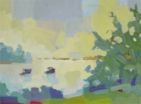 "Henry Isaacs | East Boothbay, Maine | Oil on Canvas | 12"" X 16"" 