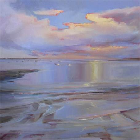 "Holly Ready | Quiet Cove, Low Tide | Oil on Canvas | 30"" X 30"" 
