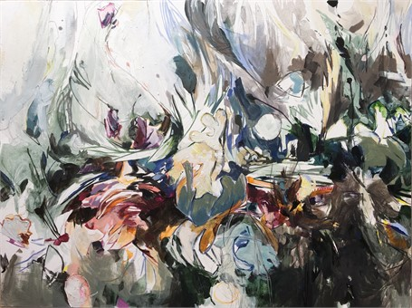 "Jeffrey T. Fitzgerald | Wavelength Romantic | Acrylic | 30"" X 40"" 