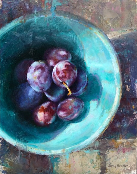 Plums in Blue