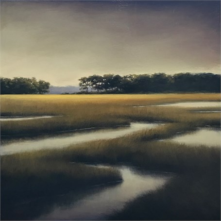 "Margaret Gerding | Soft Colors of the Marsh | Oil on Panel | 30"" X 30"" 