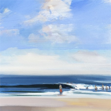 "Craig Mooney | Beach Day | Oil | 18"" X 18"" 