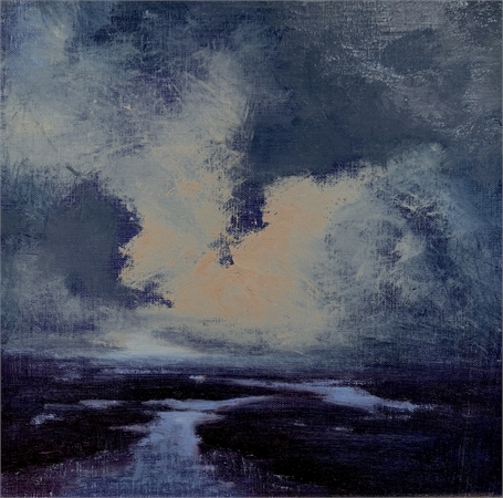 "Julie Houck | Night Moves | Oil on Canvas Mounted on Panel | 10"" X 10"" 
