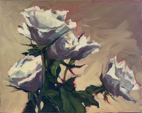 "Margaret Gerding | Day 18 (Roses) | Oil | 8"" X 10"" 