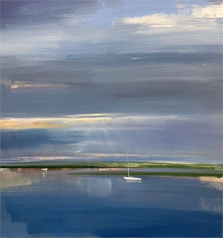 "Craig Mooney | Still Reflection | Oil on Canvas | 44"" X 44"" 