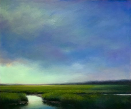 "Margaret Gerding | Aqua Cleansing | Oil on Panel | 30"" X 40"" 