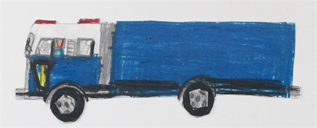 Blue Fire Truck (FRAMED)