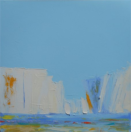 "Janis H. Sanders | Summer Sail VII | Oil on Canvas | 12"" X 12"" 