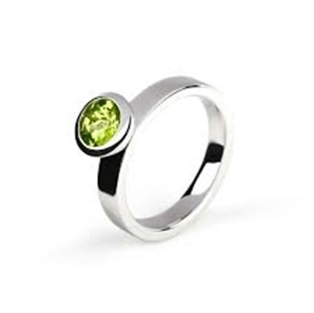 Ring-Stackable Sterling Silver with Peridot /size 7