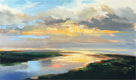 "Craig Mooney | Warm Tide | Oil on Canvas | 30"" X 50"" 