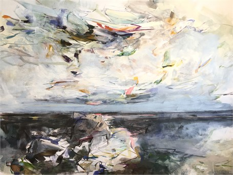 "Jeffrey T. Fitzgerald | Sky Envy | Acrylic on Canvas | 30"" X 40"" 
