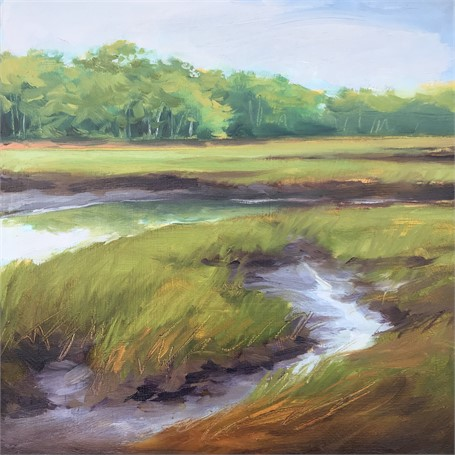 "Margaret Gerding | Morning Light-Day 4 | Oil on Panel | 8"" X 8"" 