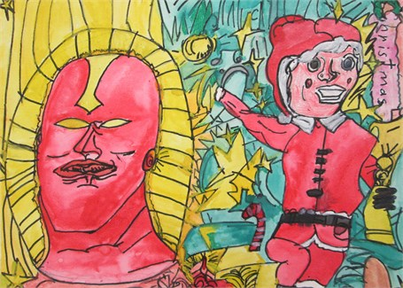 Red Tornado Vs. Santa Claus In An Epic Christmas Battle