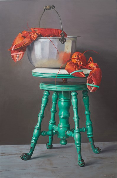 "William B. Hoyt | Lobster Recital | Oil | 24"" X 36"" 