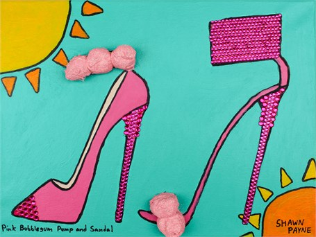 Pink Bubblegum Pump and Sandal