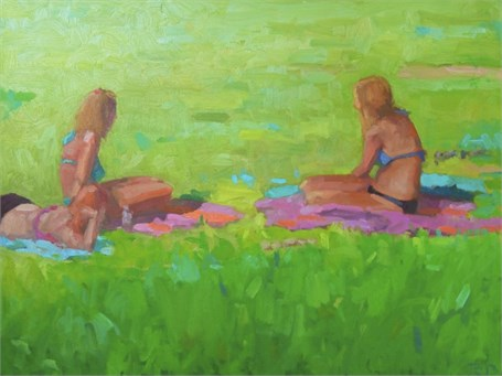 "Daniel J. Corey | Summer Girls | Oil | 24"" X 30"" 
