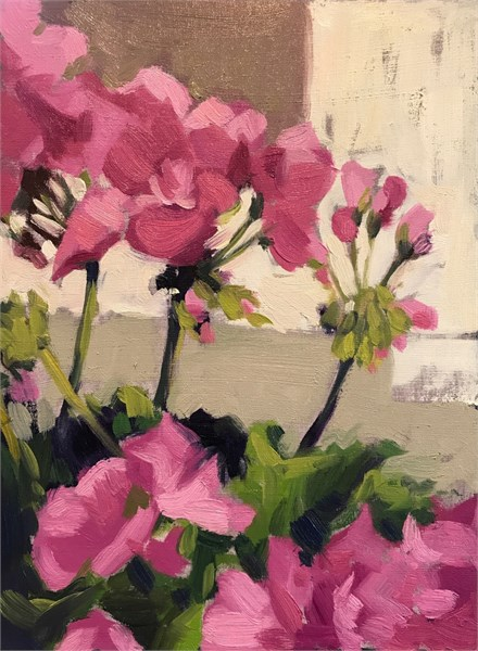 "Margaret Gerding | Day 5 (Geraniums) | Oil | 8"" X 6"" 