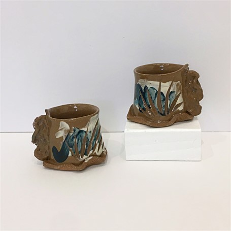 "Brendan Roddy | Coastal Demitasse Pair | Ceramic | 2.25"" X 3"" 