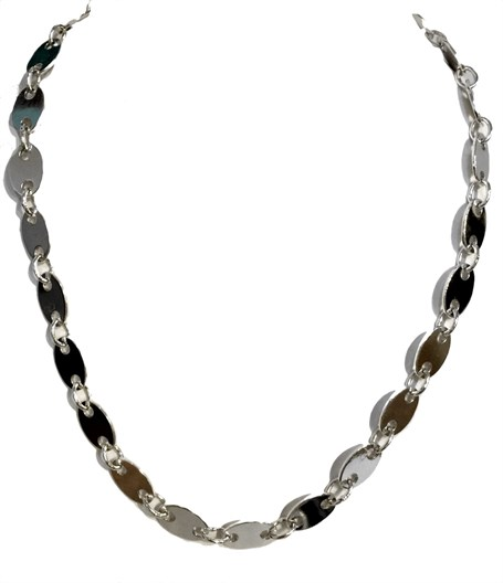 Necklace - Sterling Silver Link - Ch-395-21