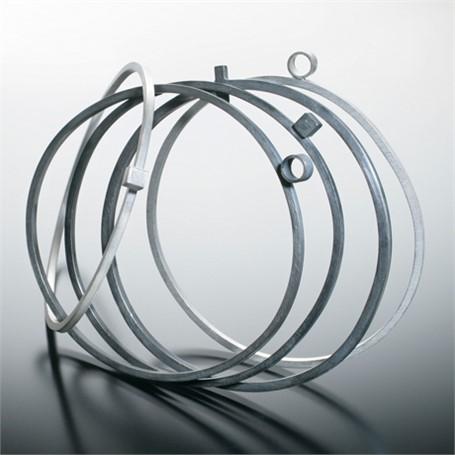 Bracelet: Medium Square Stock Bangle with Circle