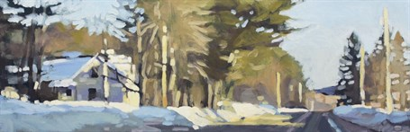 "Liz Hoag | Afternoon Sun | Acrylic | 12"" X 36"" 