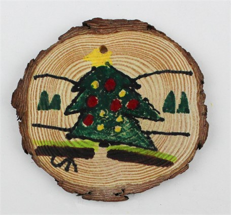 Tree/Houses (ornament)