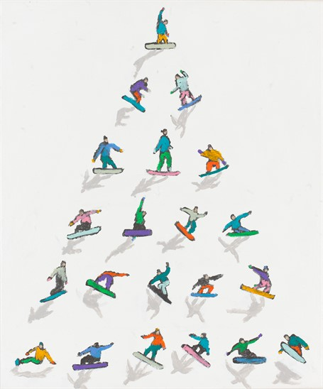 #502 Snowboarders Pyramid