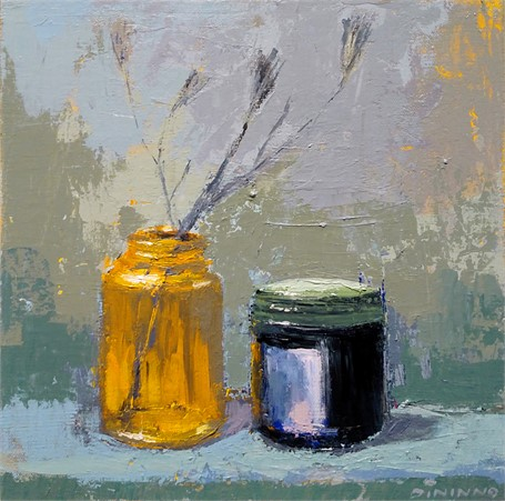 Still Life (Jars & Dried Flowers)
