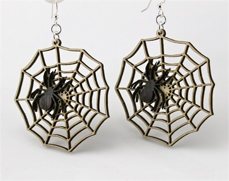 Earrings - Spider Web  1277