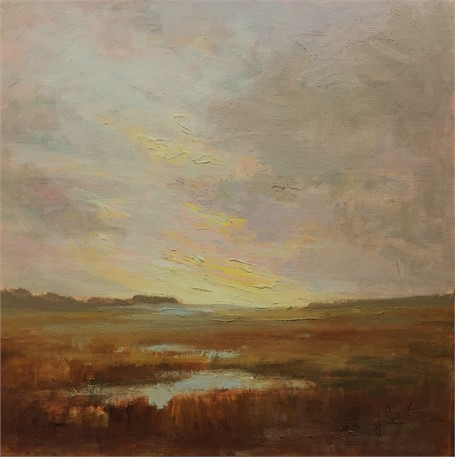 "Julie Houck | The Suggestion of Spring | Oil on Linen Mounted on Panel | 12"" X 12"" 