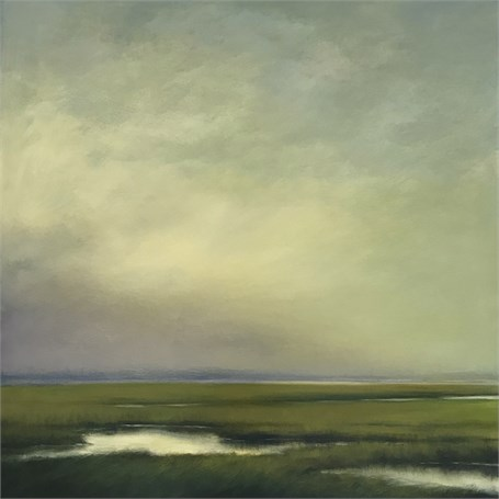"Margaret Gerding | Marsh Sky II | Oil on Panel | 36"" X 36"" 