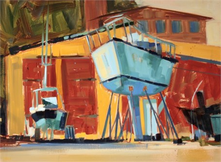 "Philip Frey | Under Repair | Oil on Linen | 18"" X 24"" 